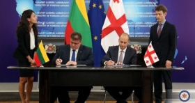 The delegations signed a protocol of the 4th meeting of the Georgian-Lithuanian Commission on European and Euro-Atlantic Integration