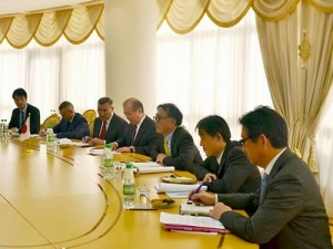 Meeting with Co-chairman of Japanese–Turkmen Committee for economic cooperation Yoichi Kobayashi is held in the Foreign Ministry