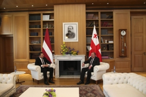The President of Georgia: It Is Symbolic that the Visit of the President of Latvia Coincides with the Commencement Day of the Visa-Free Travel