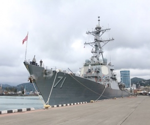 The USS Ross Visits Batumi Port