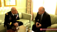 Levan Izoria's Meeting with the Commander of United States Army Europe