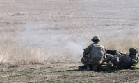 Georgian and U.S. soldiers participated in a live fire exercise