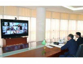 Online meeting focuses on prospects of cooperation in the trade and economic sphere between Turkmenistan and France