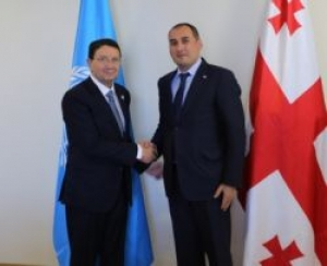 Dimitri Kumsishvili met with Taleb Rifai -UN World Tourism Secretary General