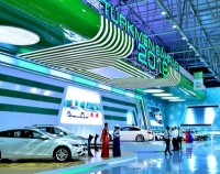 The President of Turkmenistan and high-rank guests visit innovations and motor exhibitions