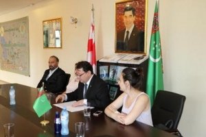 "The Embassy of Turkmenistan in Georgia held a briefing dedicated to the International Rally ""Amul -Hazar 2018"""