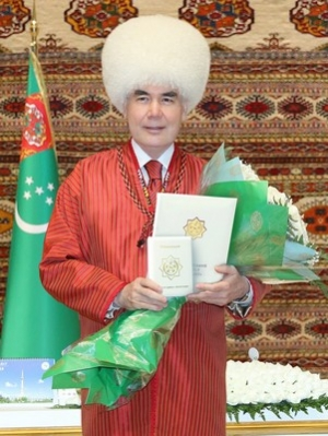 President Gurbanguly Berdimuhamedov is awarded with title of Honoured Elder of the Nation