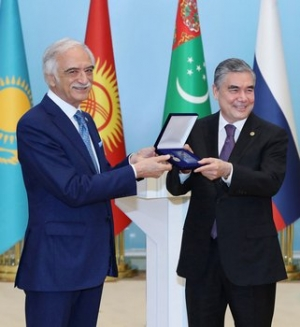 "President of Turkmenistan is awarded with the IFES Medal ""For Merits in the Development of Humanitarian Cooperation"""