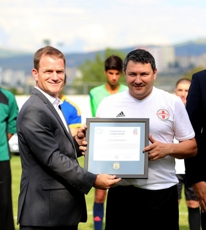 Friendly football match held between MIA and US embassy