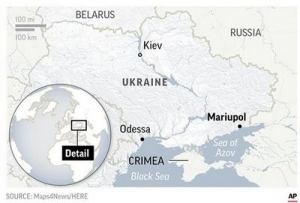 Ukraine says Russian coast guard fired on vessels in Black Sea