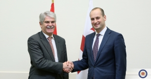 The Georgian Foreign Minister has met his Spanish counterpart