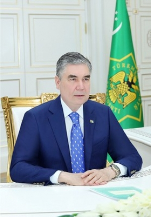 President of Turkmenistan has a telephone conversation with President of Uzbekistan