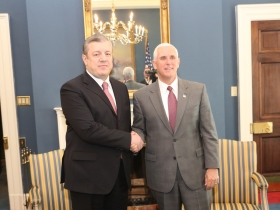 Prime Minister of Georgia met with US Vice President Mike Pence